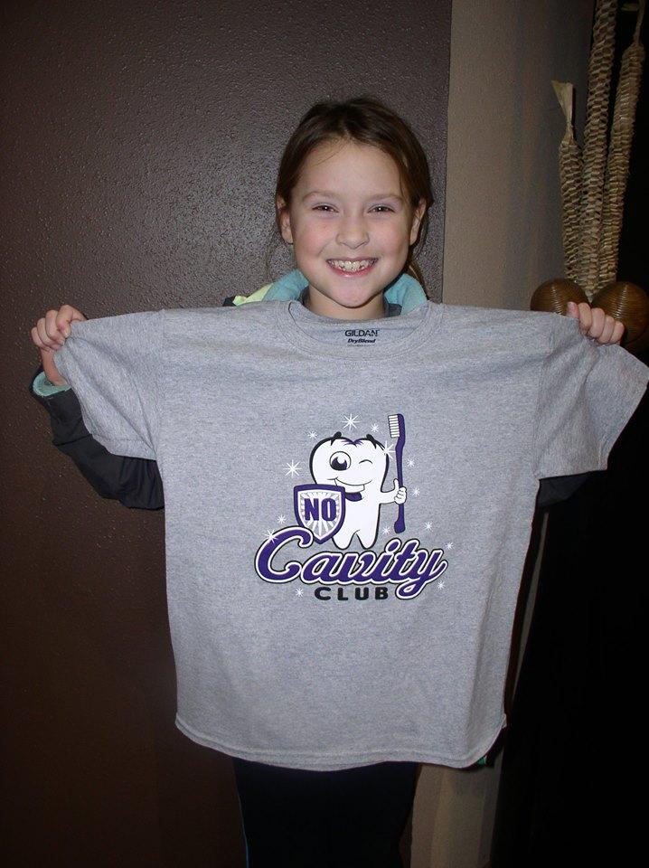 Girl in No Cavity Club at the Children's Dentist Mitchell SD