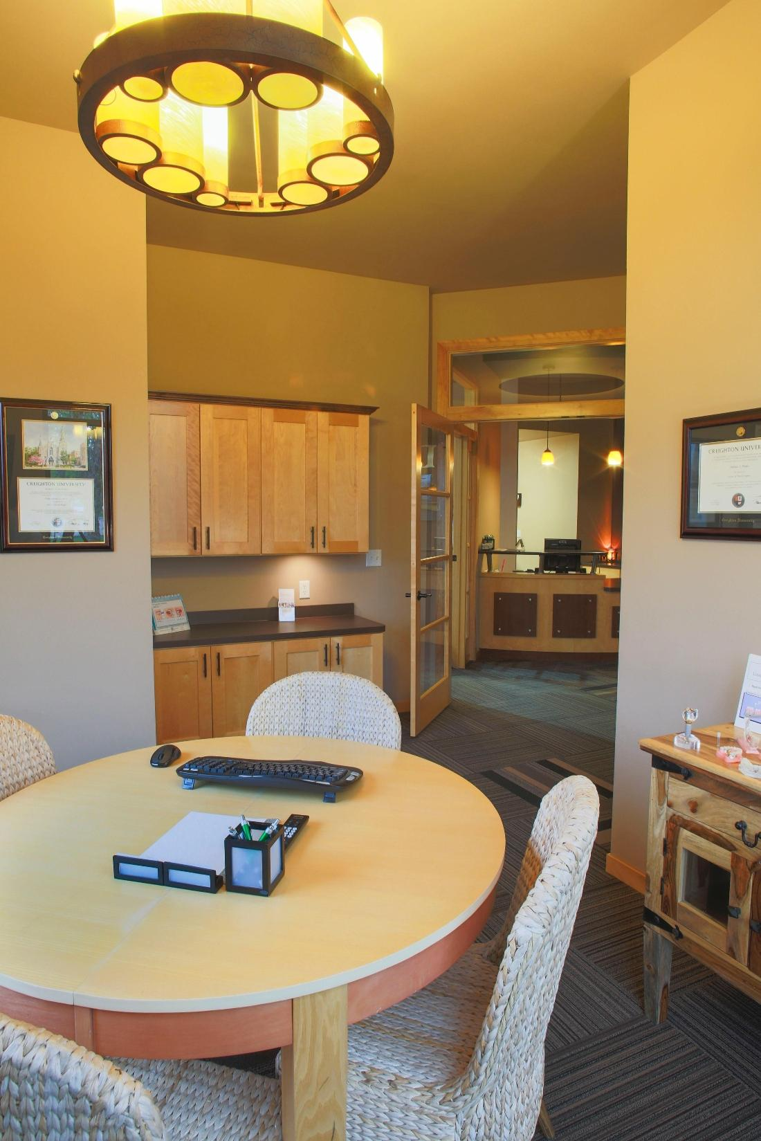 Consultation Room at Dental Health Partners in Mitchell, SD
