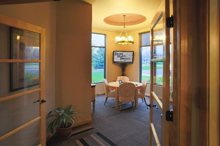 The consultation area at Dental Health Partners in Mitchell, SD