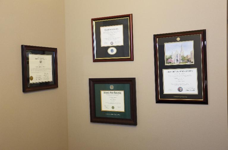 Doctor's Certifications at Dental Health Partners in Mitchell, SD