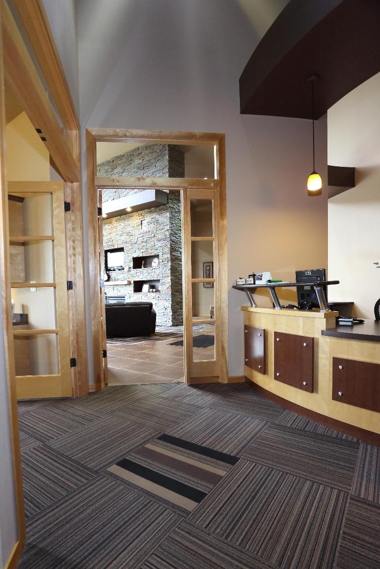 The Reception Area Transition at Dental Health Partners in Mitchell, SD