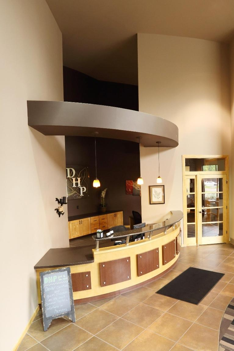 Reception Desk at Dental Health Partners in Mitchell, SD